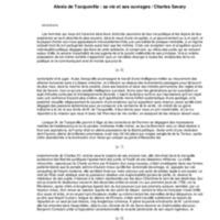 Alexis de Tocqueville : sa vie et ses ouvrages