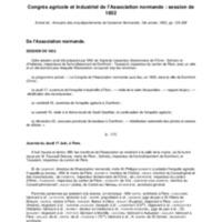 Congrès agricole et industriel de l'Association normande : session de 1852