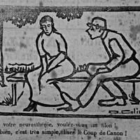 "Lisez le Coup de Canon<br /><a href=""http://normannia-omeka.biblibre.com/exhibits/show/journal_satirique/caricatures-coupdecanon"" target=""_blank"" rel=""noreferrer"">l'exposition</a>"