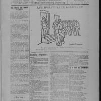 Le Coup de canon, numéro du 01 septembre 1918